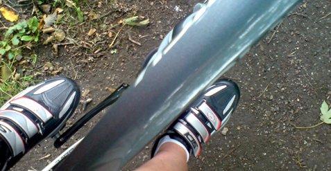 Mit neuen Radschuhen unterwegs