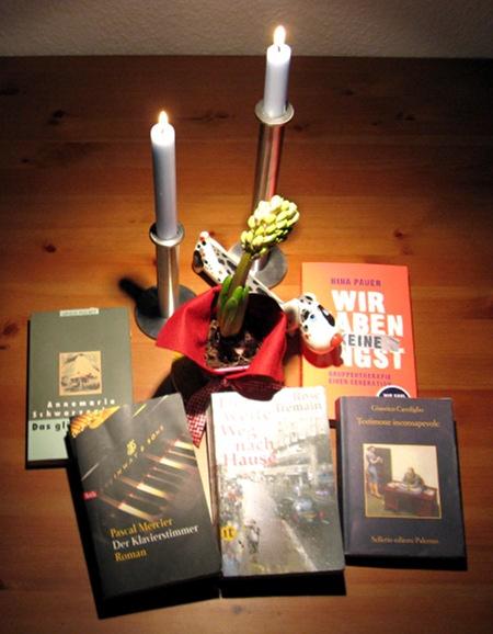 5 Bücher: Carofiglio, Mercier, Pauer, Schwarzenbach, Tremain