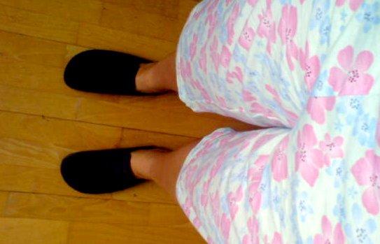 Pyjama mit rosa Plümchen