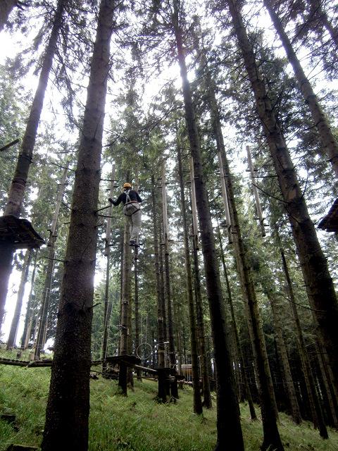 Frau Nessy im Kletterwald