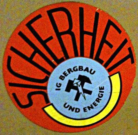 Aufkleber: IG Bergbau und Energie