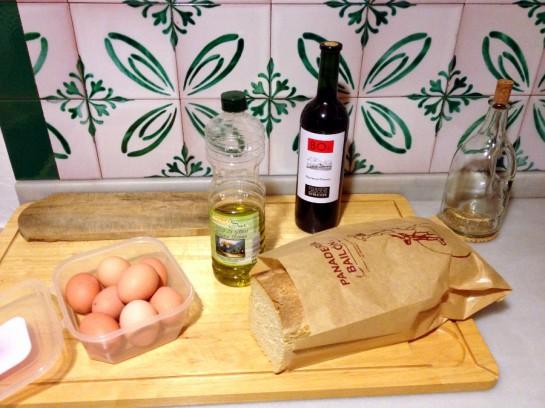 Eier, Brot, Wein
