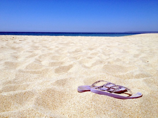 Strand mit Schlappen