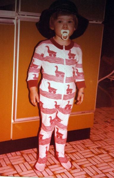 Kinderfoto Schlafanzug