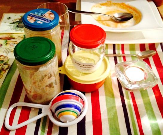 Stammtisch: Gläser mit Sauerteig & Marmelade