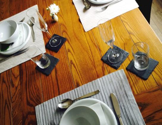 Gedeckter Tisch beim Bloggerinnentreffen