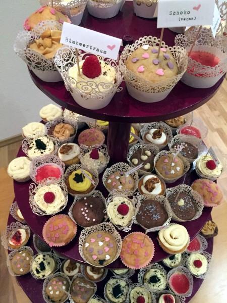 Die finale Cupcake-Etagere