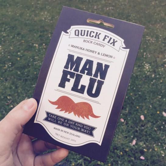 "Bonbonpackung ""Man Flu"""