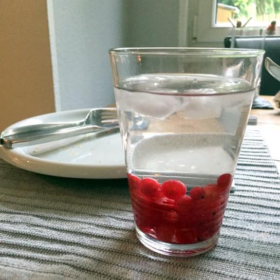 #12von12: Wasserglas - Johannisbeeren unten