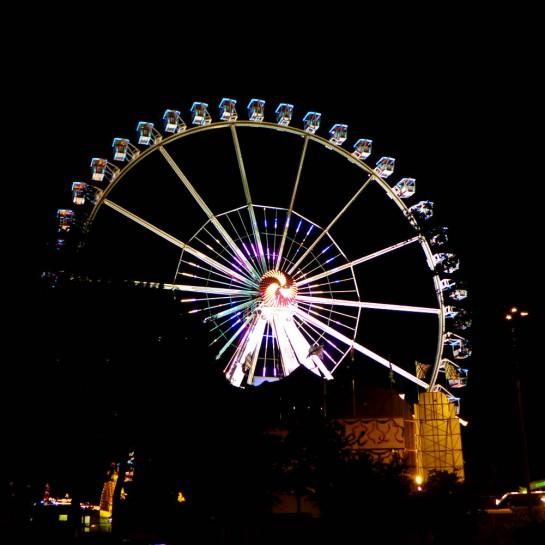 Hamburg, Dom: Riesenrad bei Nacht