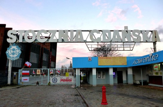 Tor der Leninwerft-Danzig: Solidarnosc