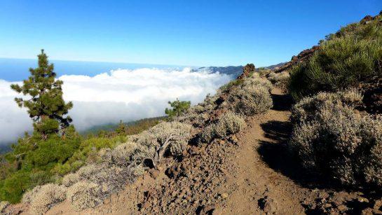 Steiniger Weg über den Wolken