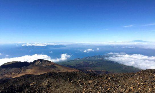 Teide: Blick auf La Gomera und La Palma
