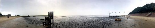 Dangast: Künstlerpfad am Strand, Panoramabild