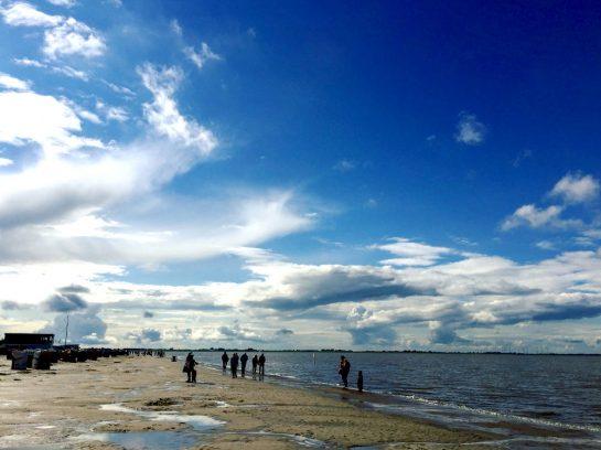 Dangast: Strand nach Regen