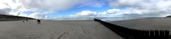 Norderney : Panoramablick am Strand