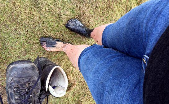 Norderney, Füße mit Schlick