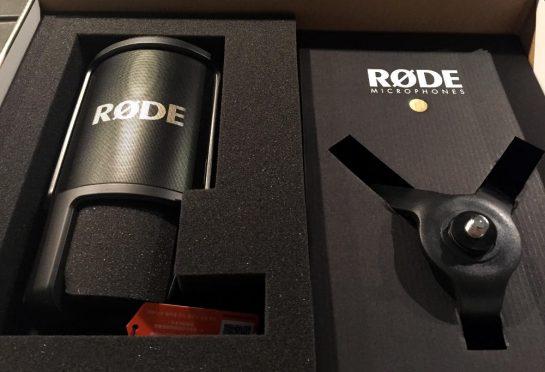 Rode-Mikrofon im Karton