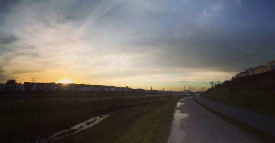 Phoenixsee mit Sonnenuntergang
