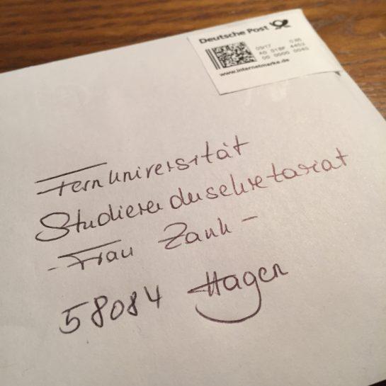 Brief an die Fernuni Hagen