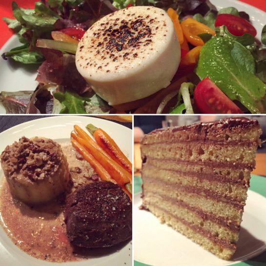 Das Essen beim Stammtisch
