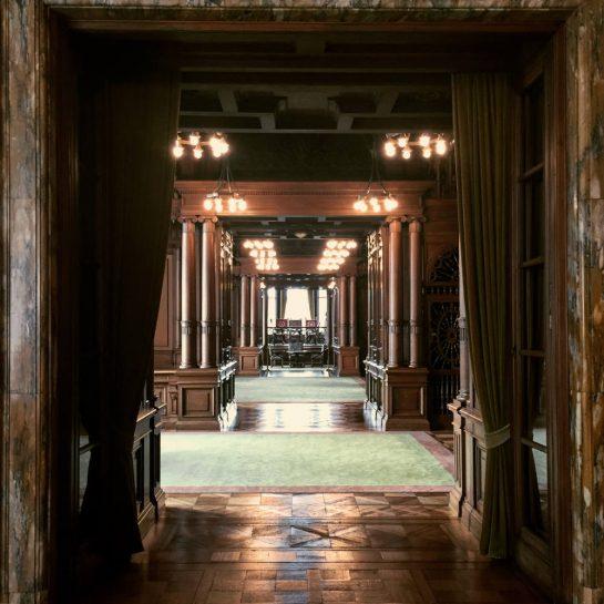 Villa Hügel: vertäfelte Räume