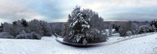 Ostpark, Blick vom Hügel