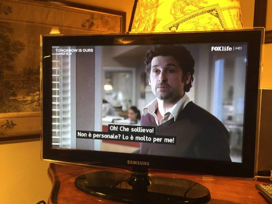Italiano con Greys, mit Untertiteln