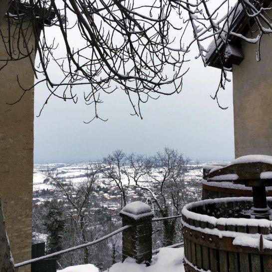 Castello di Bianello, Aussicht