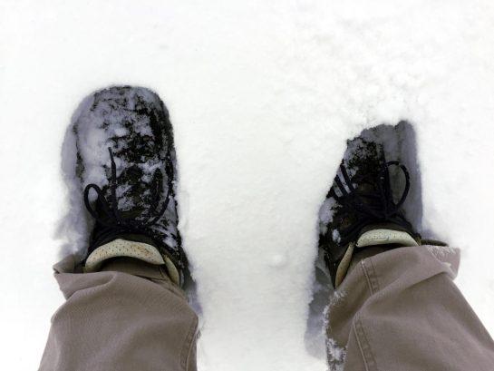 Schuhe im Schnee