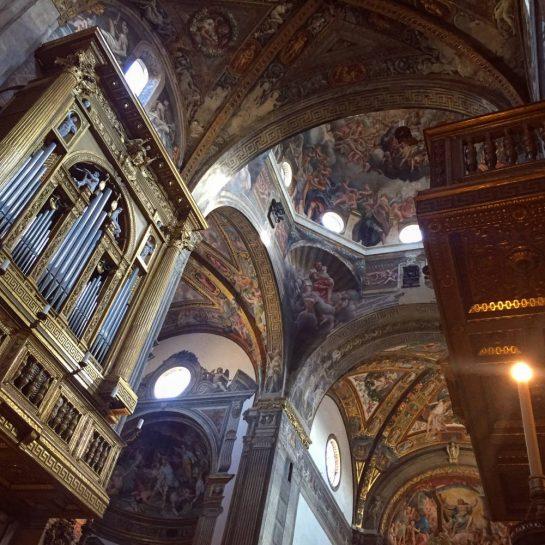 Parma, Dom: Bögen mit Wand- und Deckengemälden