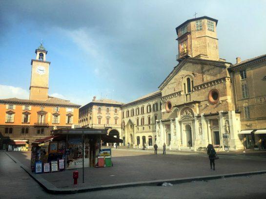 Reggio, Marktplatz: leer