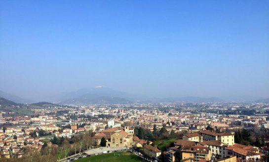 Bergamo von oben