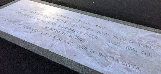 Bergamo: Steinplatte