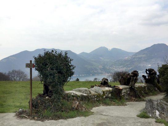 Monte Isola, Abstieg