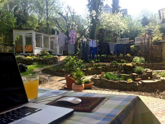 Garten, sommerlich
