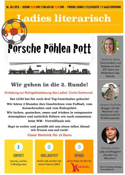 Flyer für die Ruhrgebietslesung