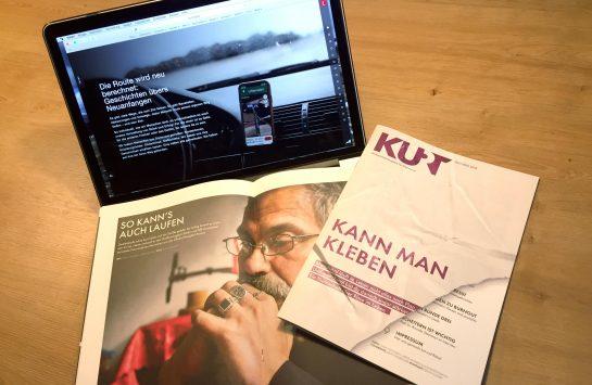 KURT-Sonderheft und Online-Spezial: Bild von Heft und aufgeklapptem Laptop mit der Website