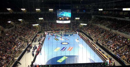 Handballfeld von oben