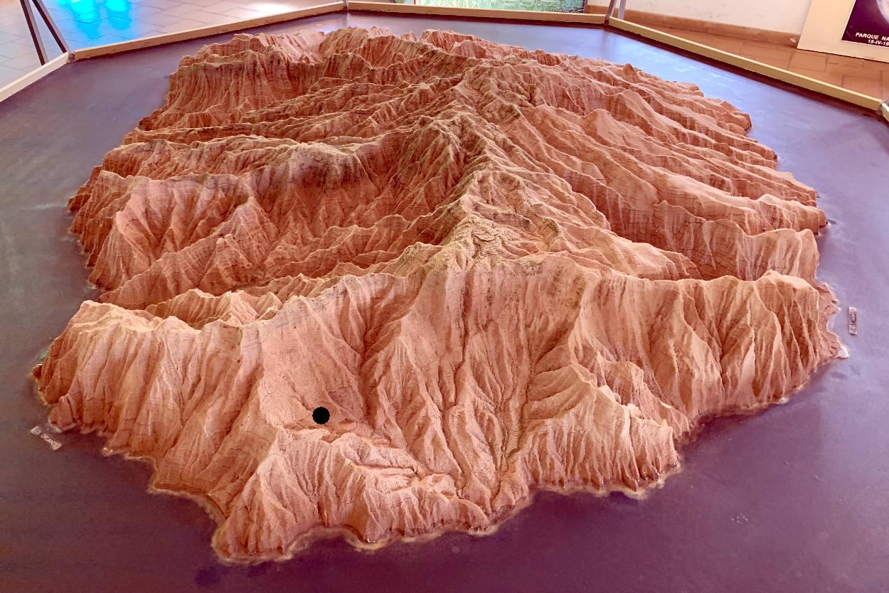Profilmodell der Insel