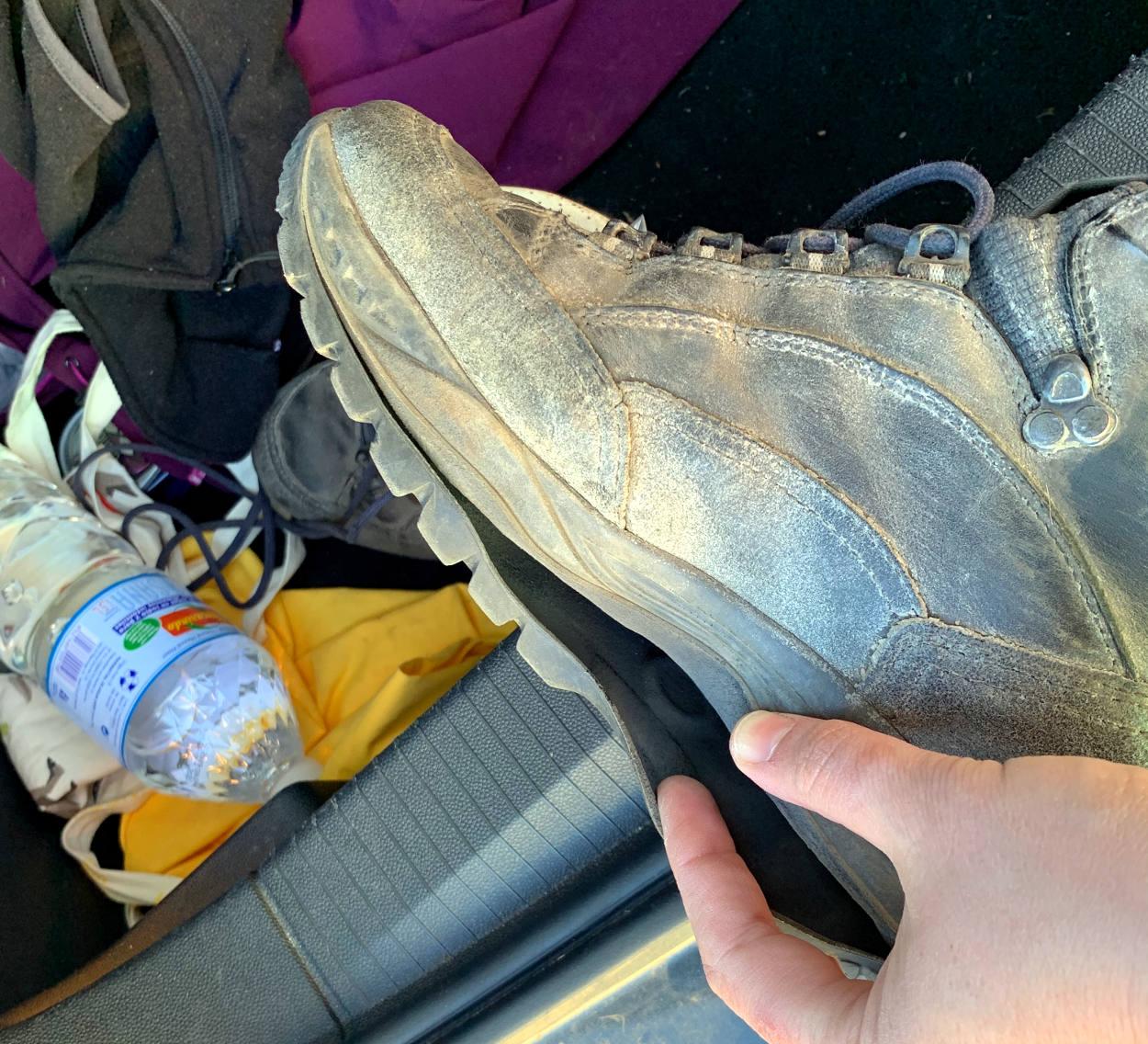 Schuh, Sohle ist ab
