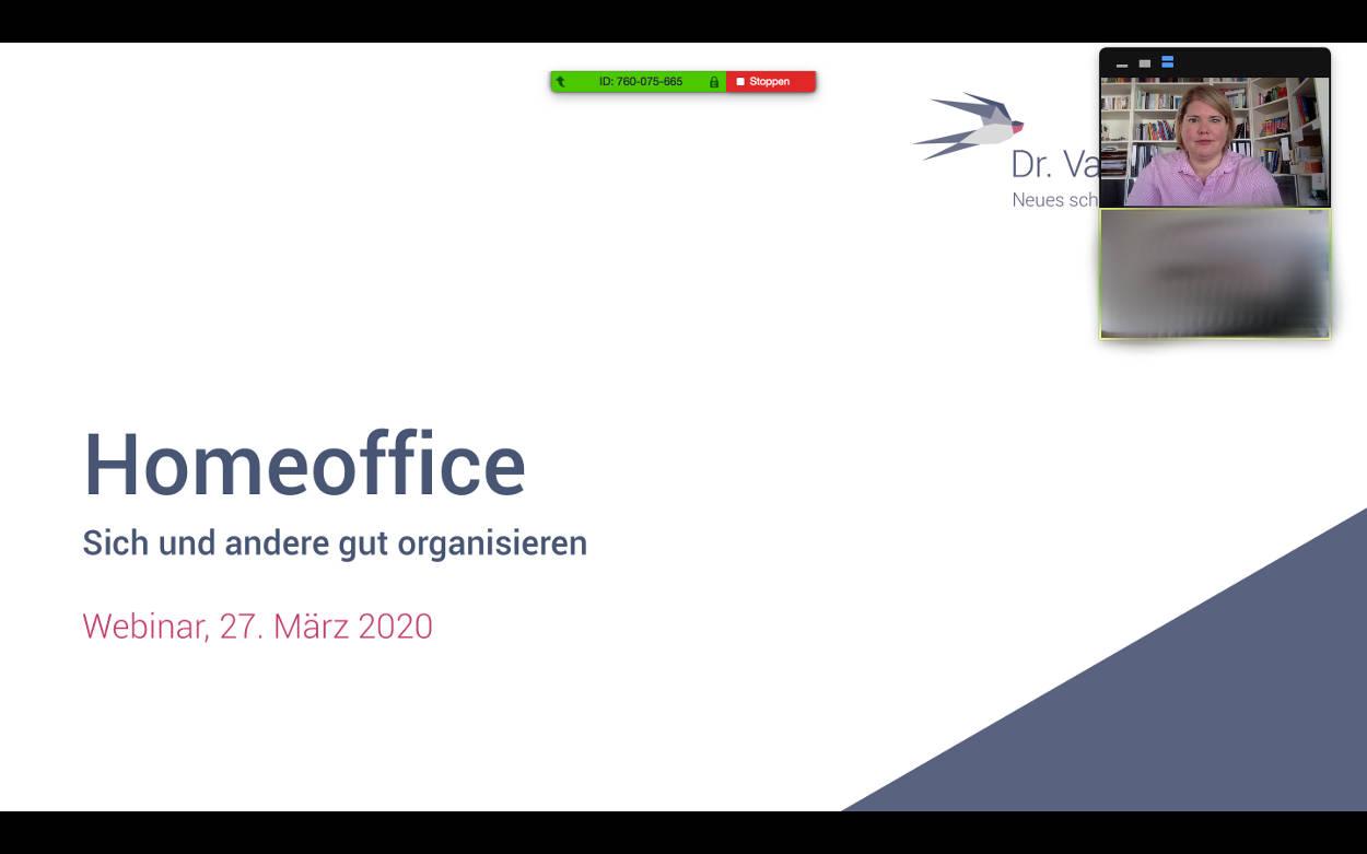 """Folie """"Homeoffice - Such und andere gut organisieren"""""""