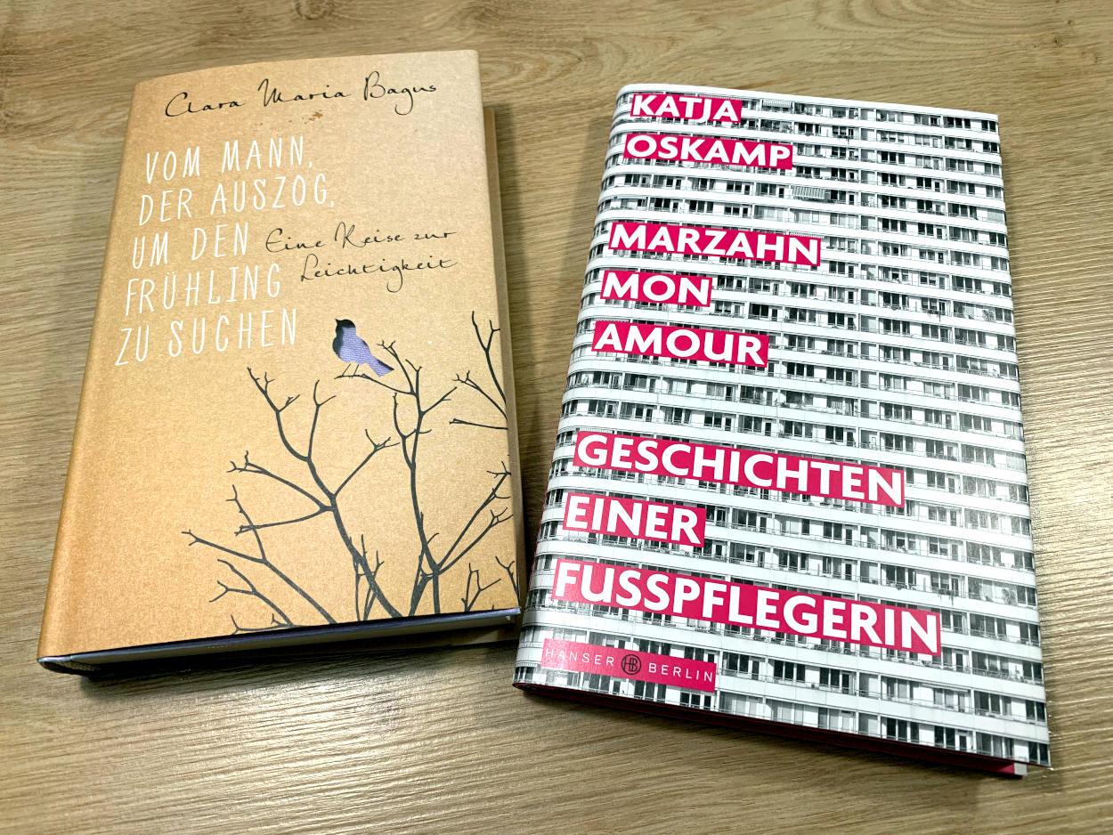 """Buch: """"Der Mann, der auszog, um den  Frühling zu suchen"""", Buch """"Marzahn Mon Amour, Geschichten einer Fußpflegerin"""""""