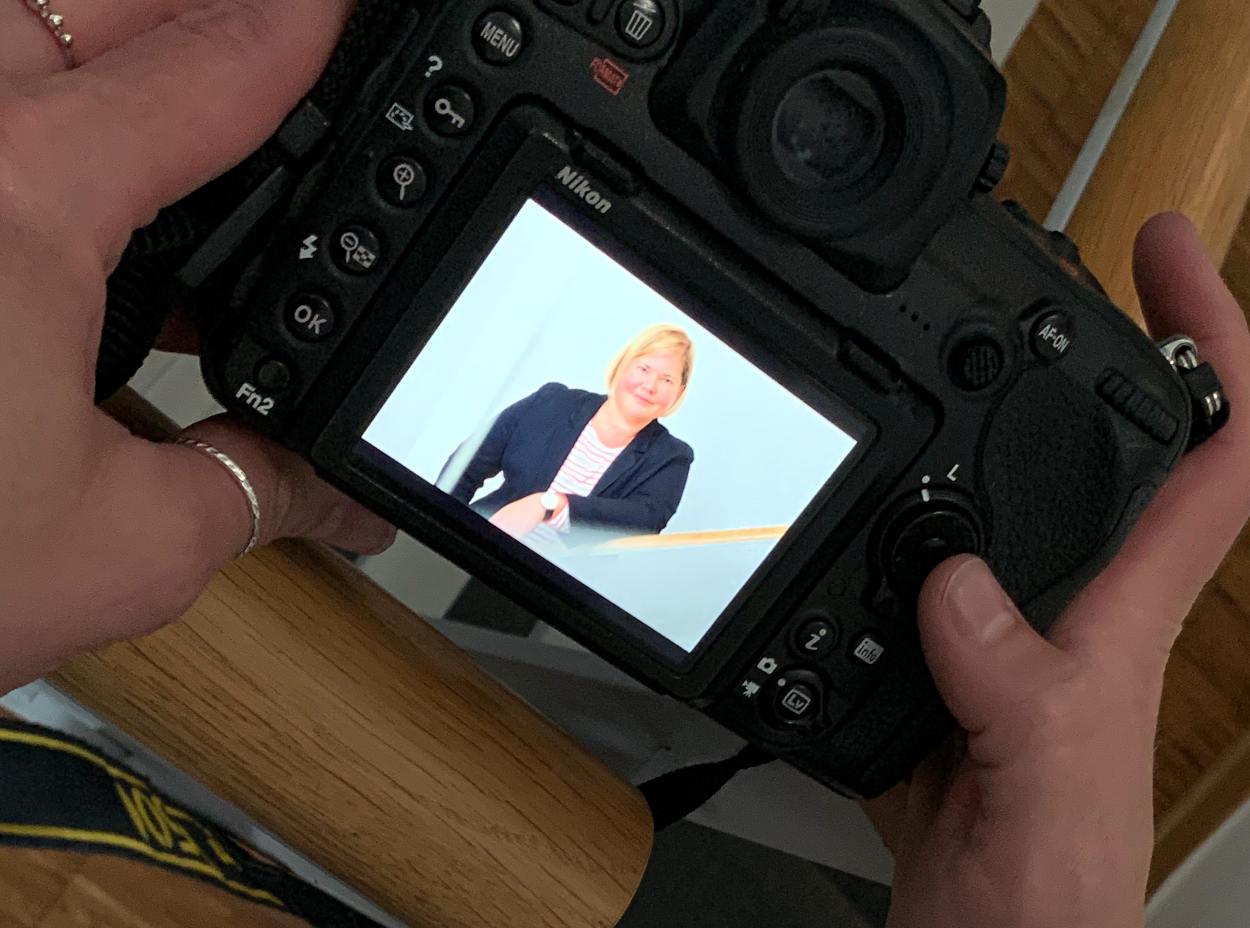 Kamera-Display mit Bild von Vanessa