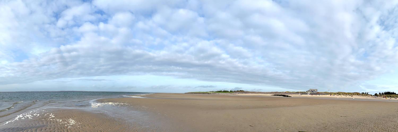Panoramaaufnahme vom Strand
