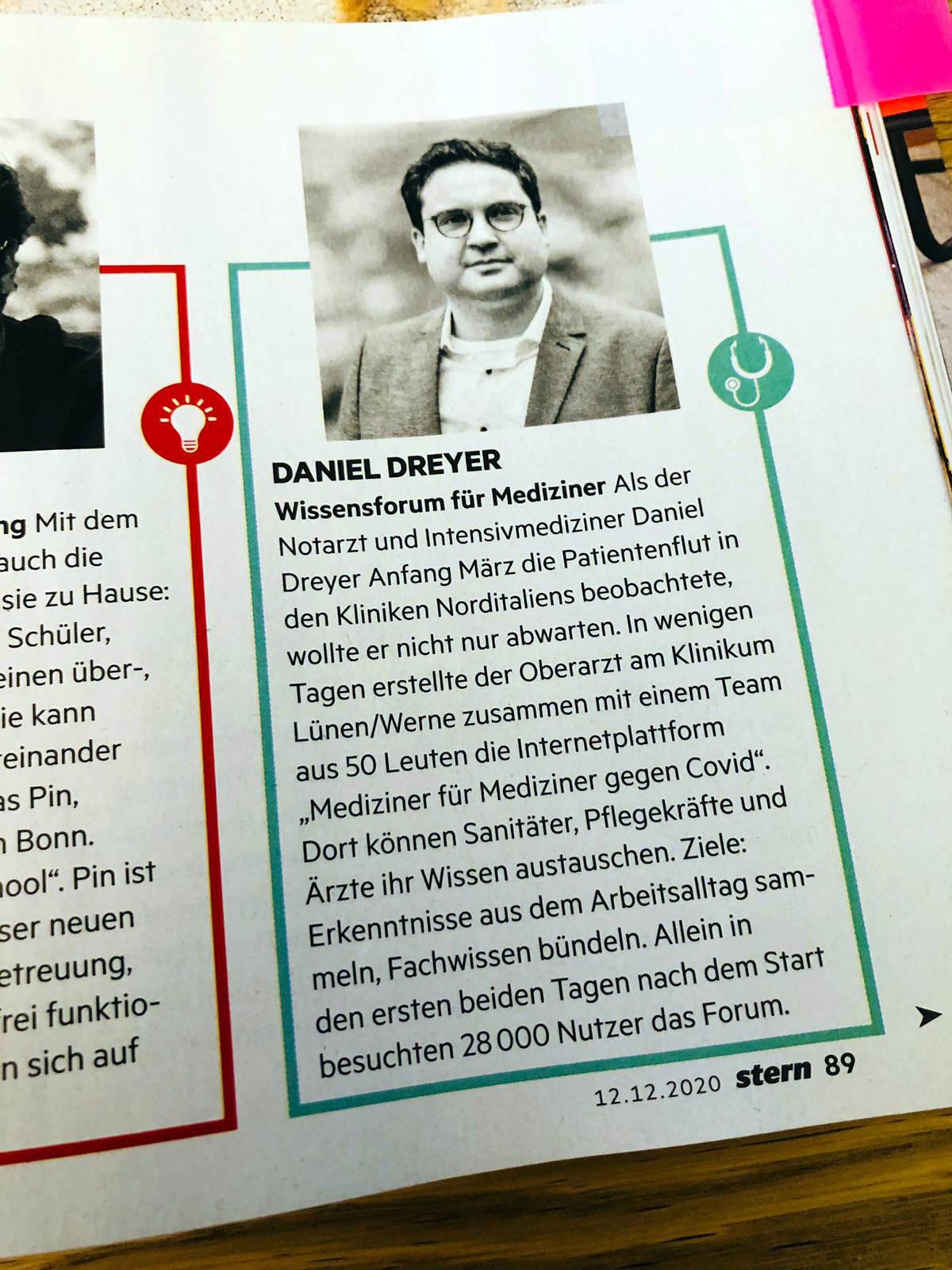 Portrait Daniel Dreyer, Text siehe unten