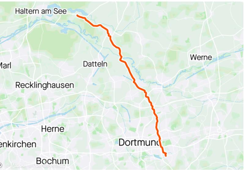 Landkarte mit der Strecke
