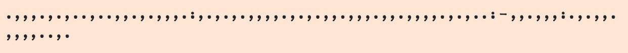 Ein breiter Streifen mit Satzzeichen